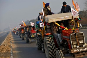 Picture of Indian farmers aim for nationwide protests against reforms on Monday