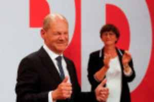 Picture of German SPD seeks three-way alliance to replace Merkel-led coalition