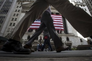 Picture of Wall Street Opens Mixed, Hurt by Bond Yield Rise; Dow up 190 Pts, Nasdaq Down
