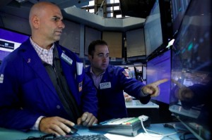 Picture of Wall St ends up with Goldman; Dow posts biggest weekly rise since June